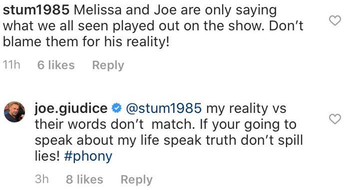 RHONJ Joe Giudice Claims Melissa and Joe Gorga Lied About His Life