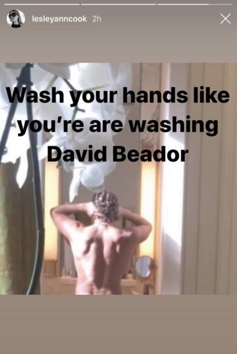 RHOC Lesley Cook Shares Shirtless Photo of David Beador Amid Coronavirus Fears