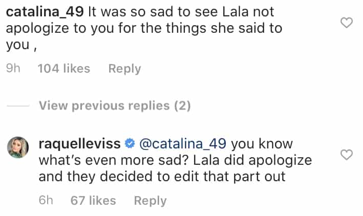 Raquel Leviss Claims Vanderpump Rules Editors Removed Lala Kent Apology