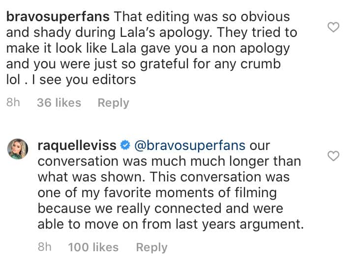 Vanderpump Rules Raquel Leviss Disses Editing of Lala Kent Conversation