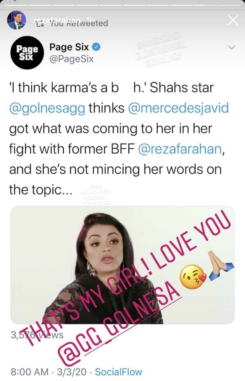 Shahs of Sunset Reza Farahan Reacts to GG Siding With Him Amid MJ Feud