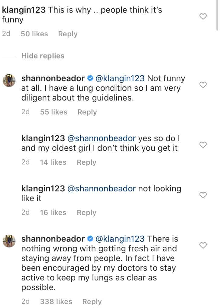 RHOC Shannon Beador Advised to Get Fresh Air Amid Quarantine