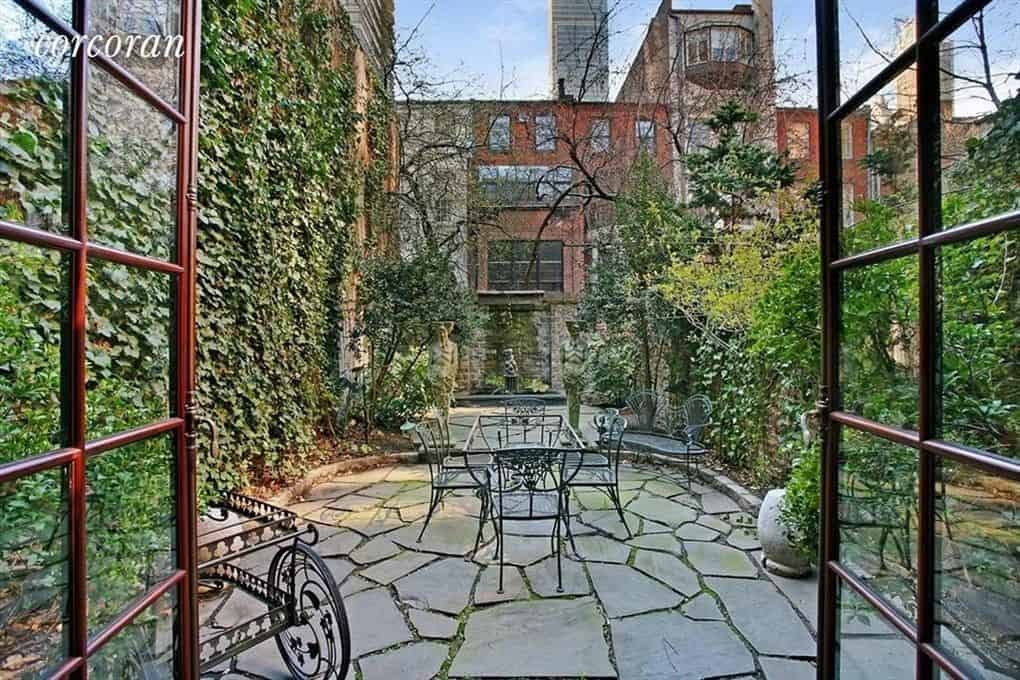 RHONY Sonja Morgan Townhouse Backyard