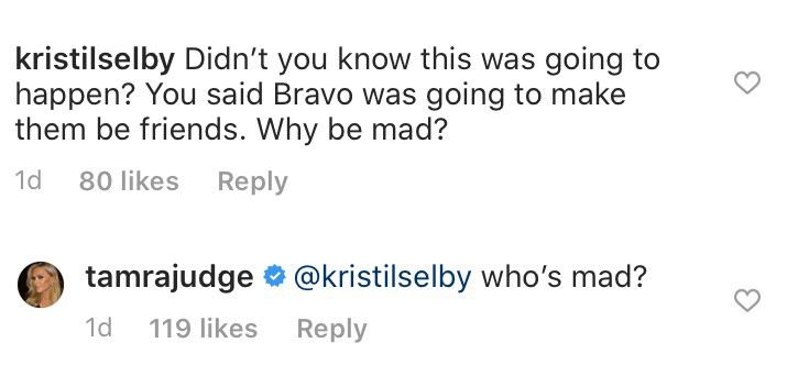 RHOC Tamra Judge is Not Mad About Shannon Beador's Reconciliation With Kelly Dodd
