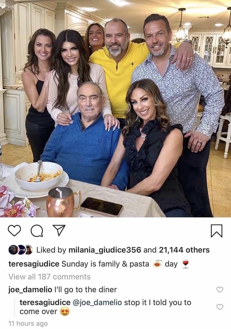 RHONJ Teresa Giudice's Rumored Boyfriend Comments on Family Photo