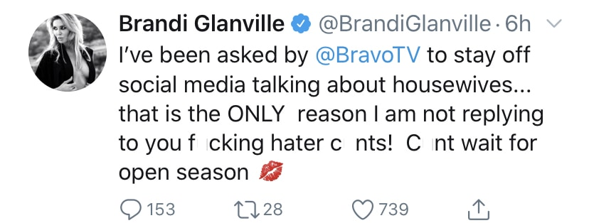 Brandi Glanville Asked by Bravo to Stop Talking About RHOBH on Social Media