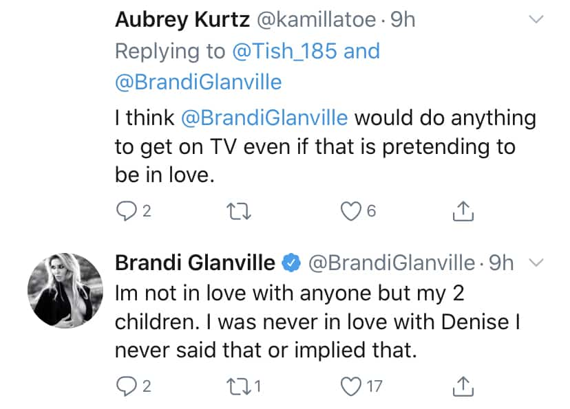 RHOBH Brandi Glanville Says She Was Never in Love With Denise Richards