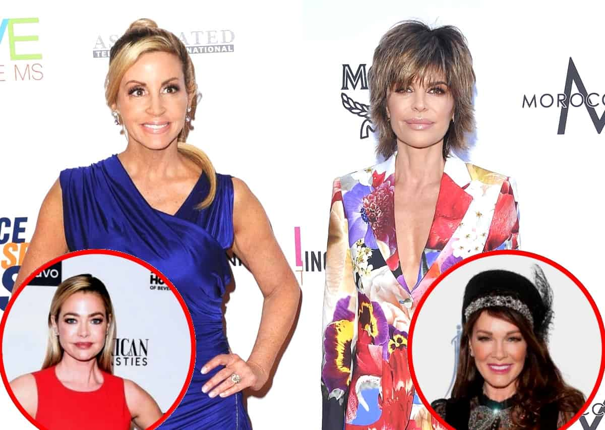 "RHOBH's Camille Grammer Slams Lisa Rinna as a ""Hypocrite"" and Suggests Denise Richards Will Carry the New Season, Reveals if She's in Touch With Lisa Vanderpump"