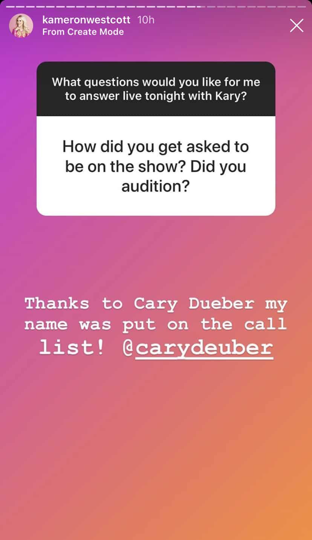 Cary Deuber Got Kameron Westcott Cast on RHOD