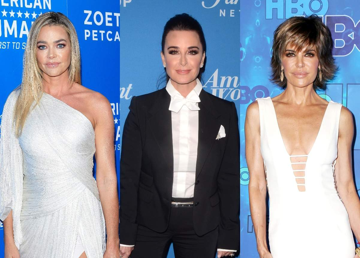 RHOBH's Denise Richards Shades Kyle Richards and Lisa Rinna as 'Hypocrites,' Likes Tweet Reminding Them of How Upset They Got When Rumors About Their Marriages Were Brought Up on Show
