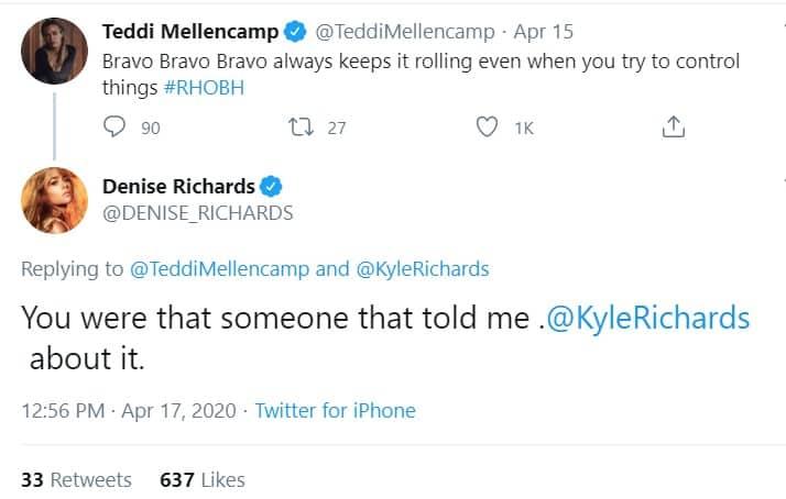 Denise Richards calls out Teddi Mellencamp on Twitter