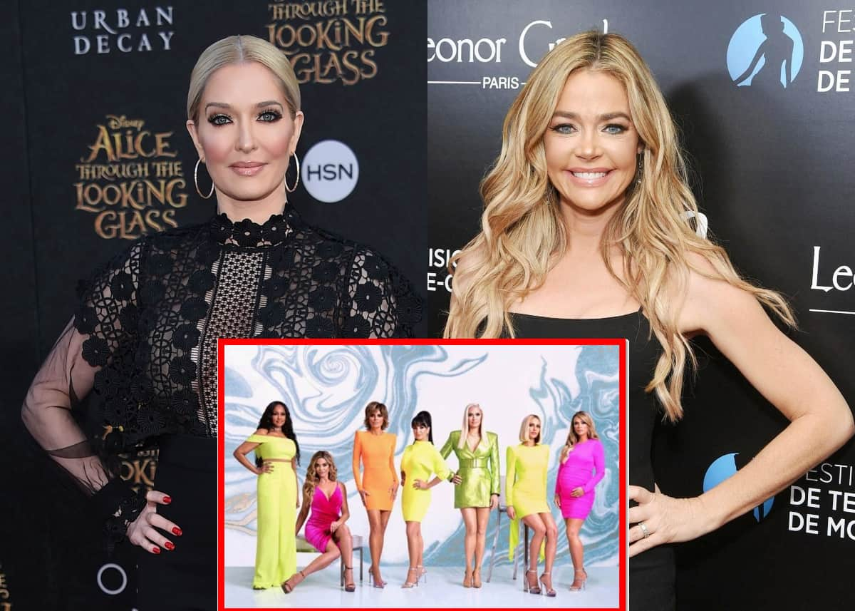"""Erika Jayne Reveals the Real Reason the RHOBH Cast is Feuding With Denise Richards and Says She """"Repeatedly"""" Walked Out During Filming, Says Cast is """"Divided"""" Over Drama With Brandi"""