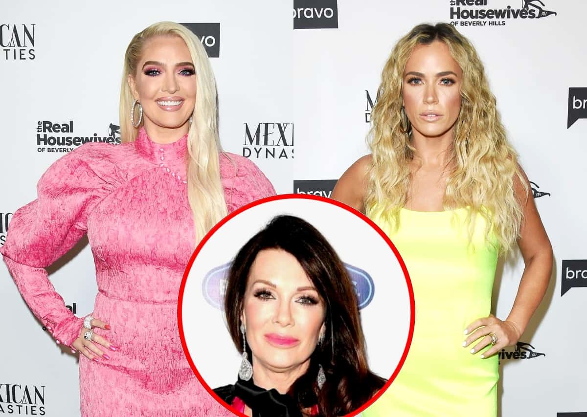 """RHOBH's Erika Jayne Says Cast Bonded After Lisa Vanderpump's Exit and Reacts to Denise and Brandi's Alleged Affair as Teddi Mellencamp Reveals If """"Puppy Gate"""" Was Mentioned on Season 10"""