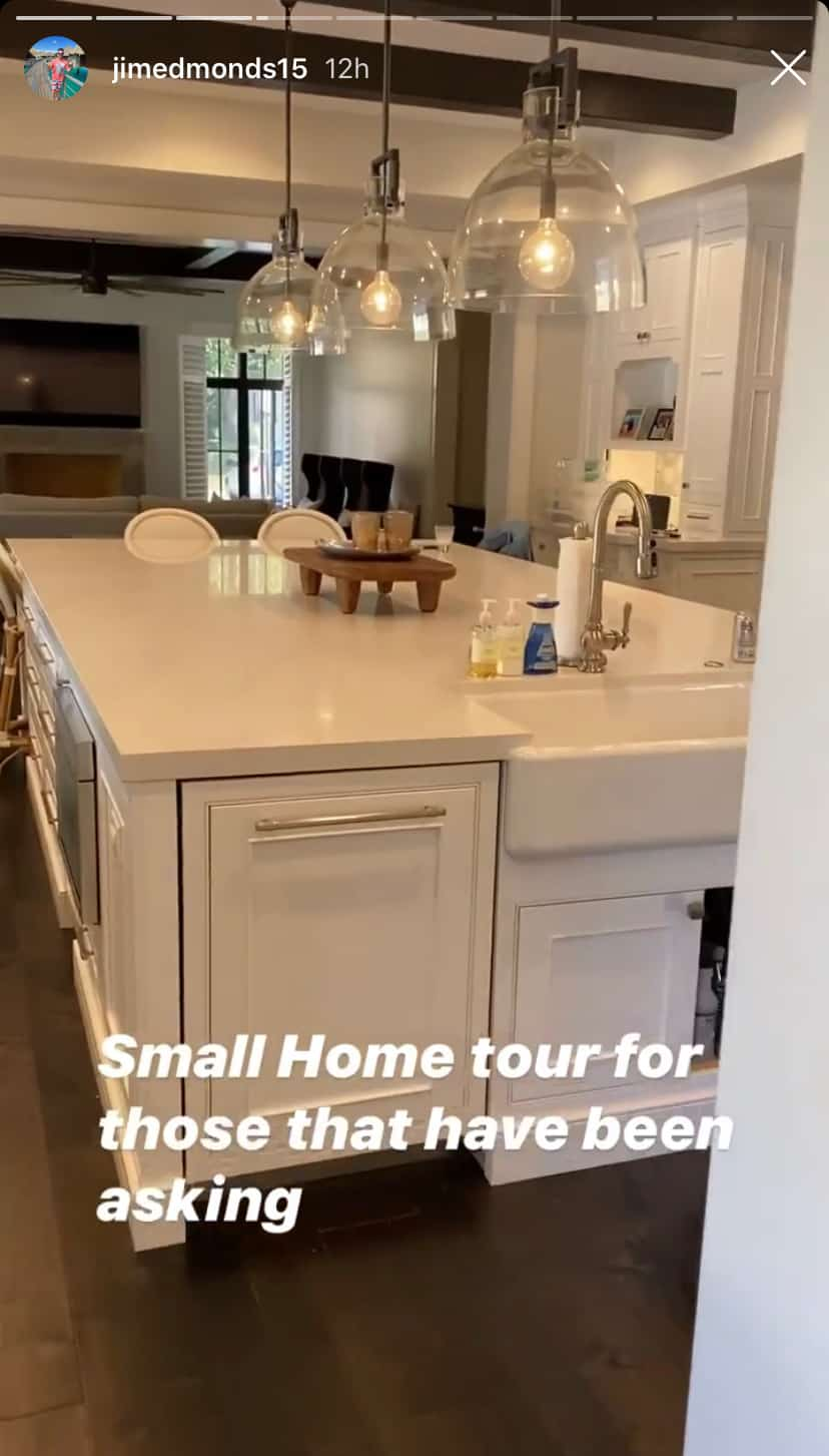 RHOC Jim Edmonds Shows Off Kitchen