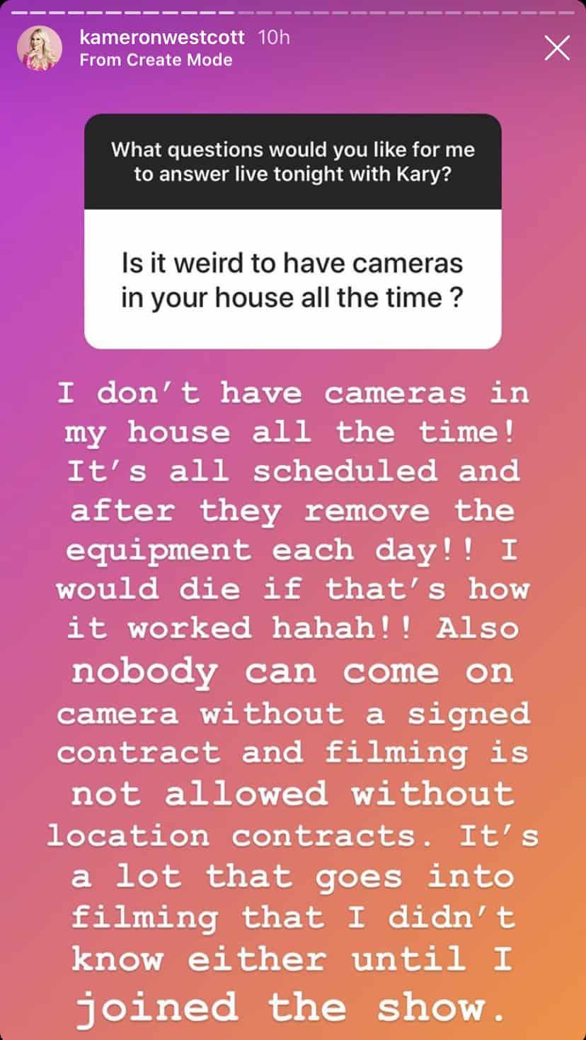 Kameron Westcott Explains Filming RHOD
