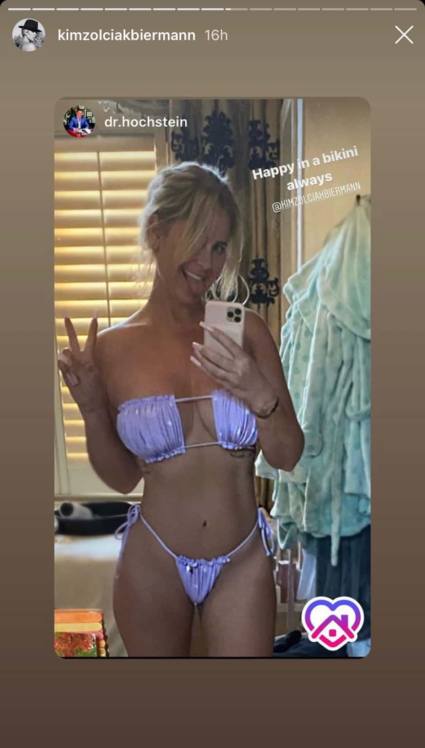 Don't Be Tardy Kim Zolciak Wears a Purple Bikini