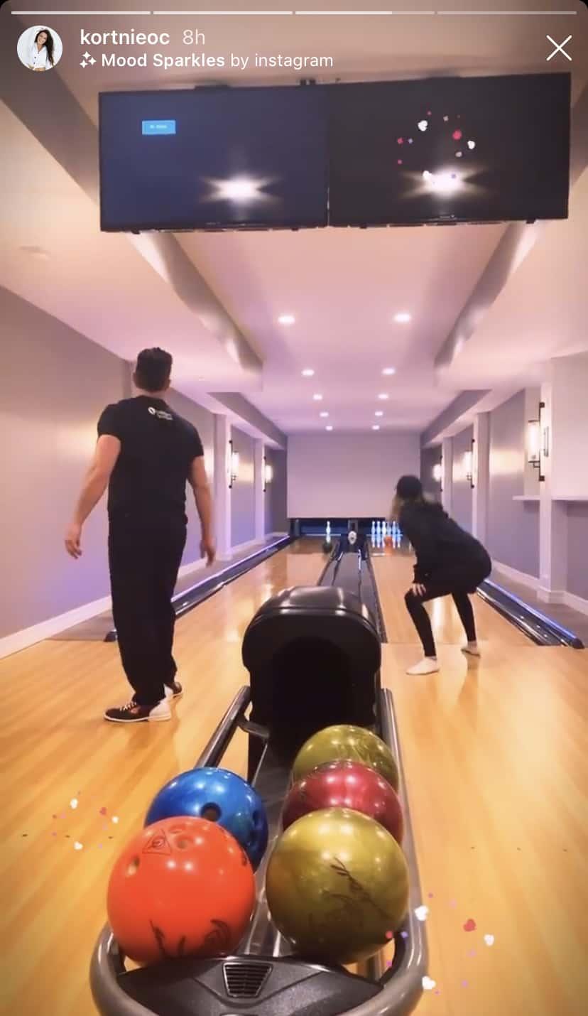 RHOC Kortnie O'Connor Shares Photo of Jim Edmonds Bowling