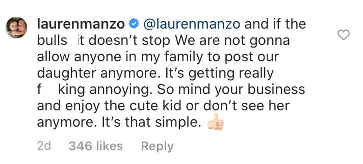 RHONJ Lauren Manzo Warns of Photo Ban
