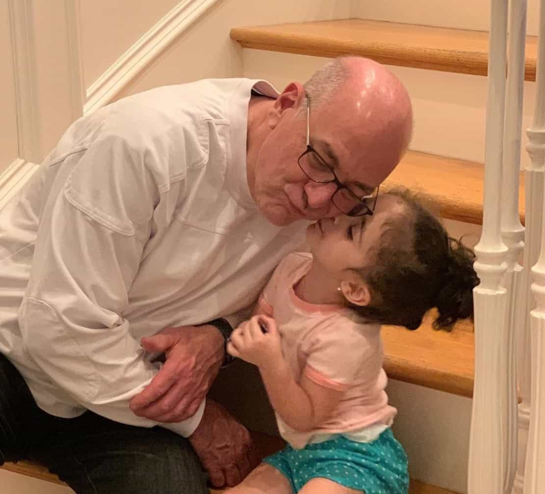 RHONJ Lauren Manzo's Daughter Markie Gives Grandfather Albert a Kiss