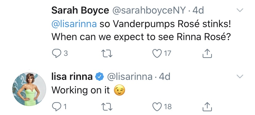 RHOBH Lisa Rinna is Working on a Rose Line