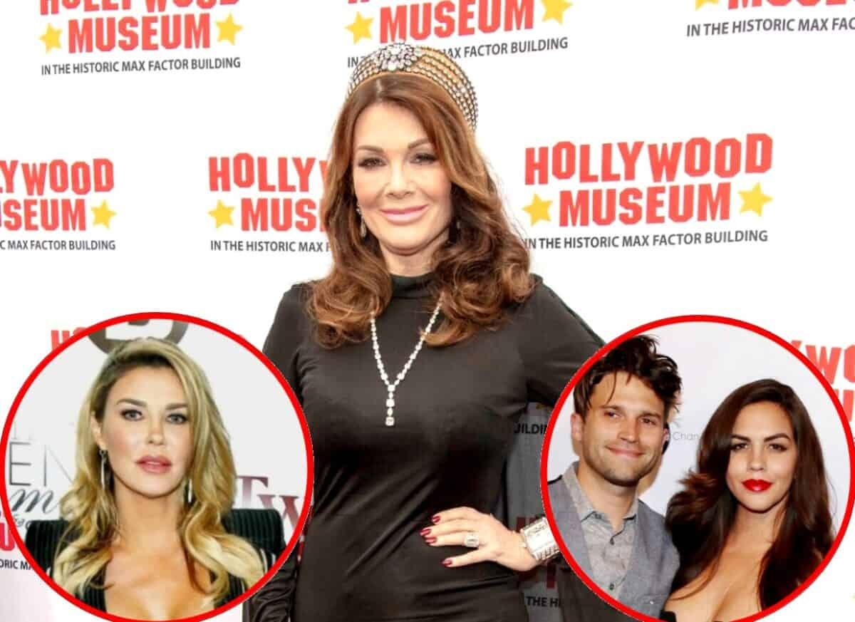 "Lisa Vanderpump Reacts to Brandi Glanville Calling Her an ""Inspiring Businesswoman,"" Calls Out Tom Schwartz for Poor Treatment of Wife Katie Maloney and Talks Restaurant Closures"