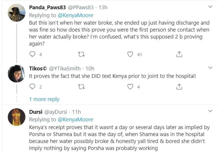 RHOA Fans defend Kenya Moore against Porsha and Shamea