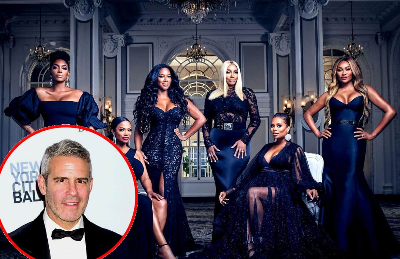"PHOTOS: Get Your First Look at the Virtual RHOA Reunion Taping as Host Andy Cohen Calls it ""Epic"" and Confirms He Filmed Pants-Less"