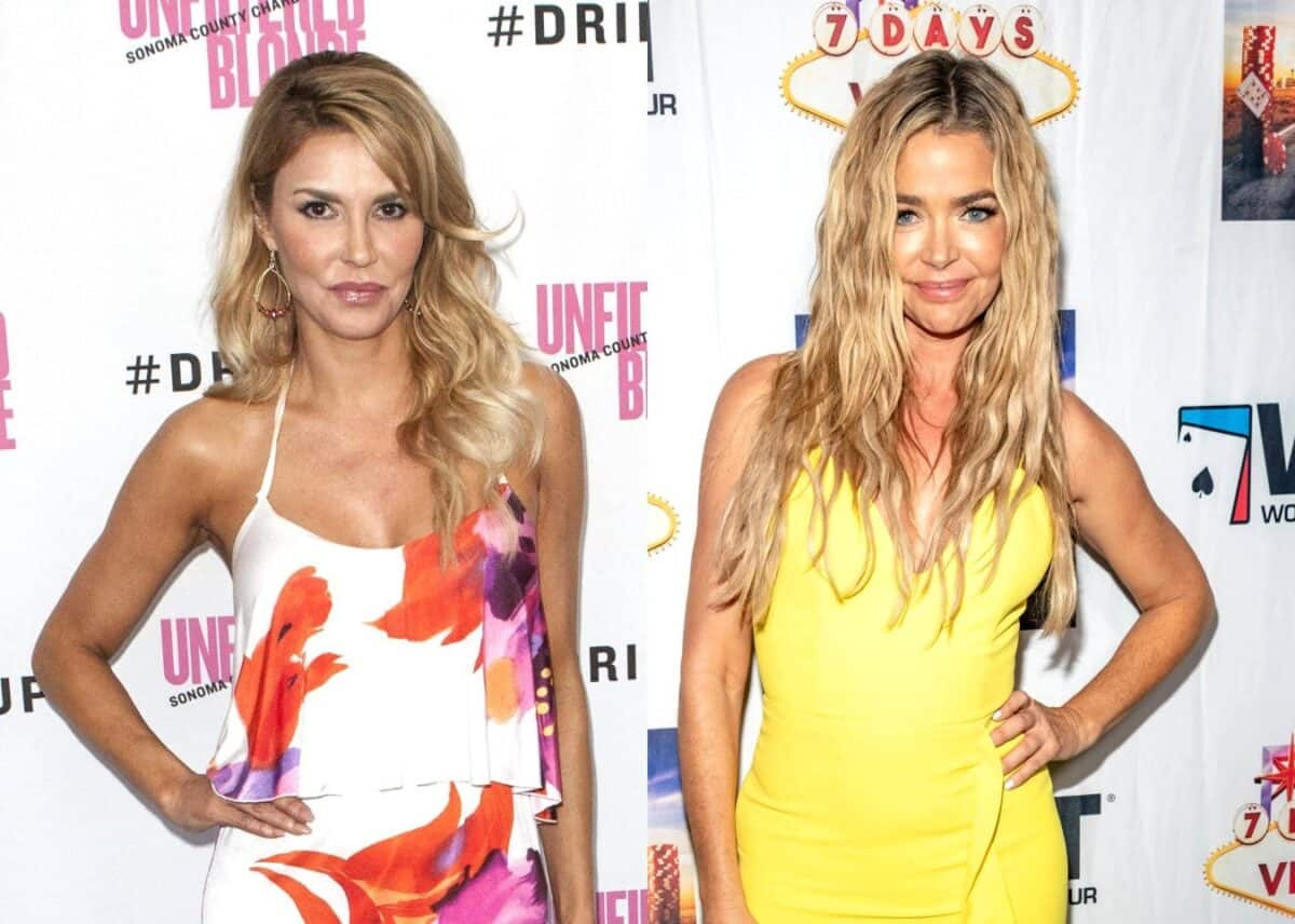 "RHOBH's Brandi Glanville Reveals When Alleged 'Hook Up' With Denise Happened, Denies Claim That She Might Have Outed RHOBH Costar and Explains Why She Went Public With Affair Allegation, Plus She Reacts to Claims of ""Staging"" Scene at Kyle's House"