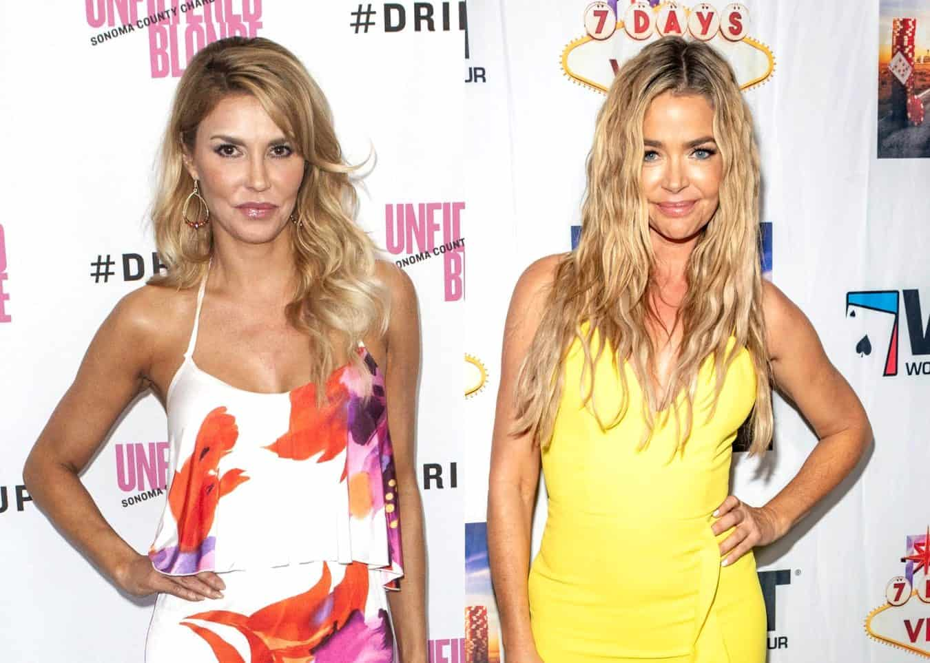 "Brandi Glanville Details When Alleged 'Hook Up' With Denise Happened, Denies Claims She Might Have Outed RHOBH Costar and of Being a Bad Parent, Plus She Reacts to Claims of ""Staging"" Scene at Kyle's House"
