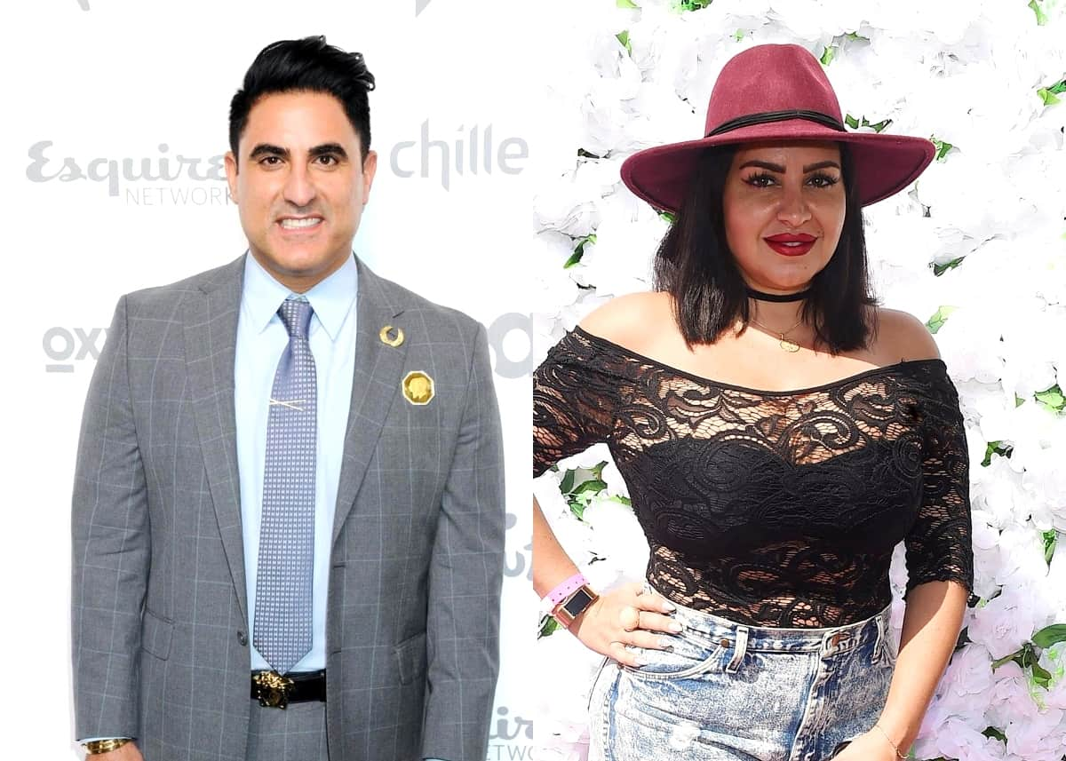"Shahs of Sunset's Reza Farahan Dishes on His Recent ""Positive Conversation"" With Mercedes MJ Javid, Reveals if He Regrets Restraining Order Against Tommy and if He's Met Baby Shams"