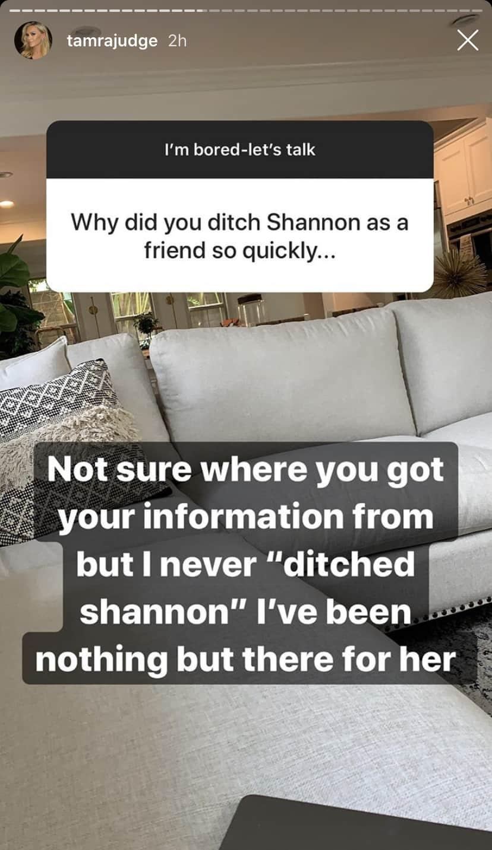RHOC Tamra Judge Denies Ditching Shannon Beador