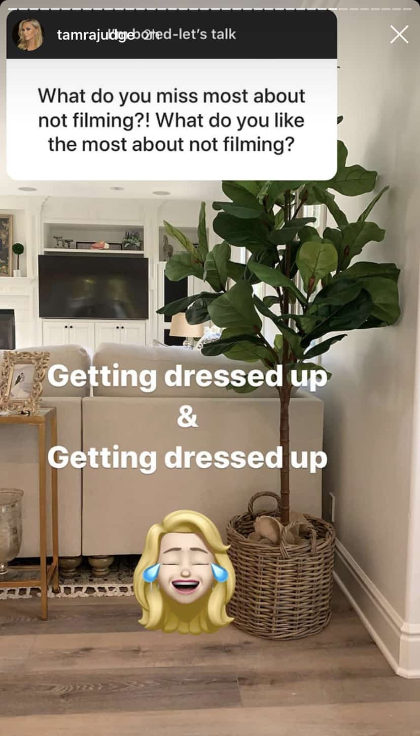 Tamra Judge Misses and Doesn't Miss Getting Dressed Up for RHOC