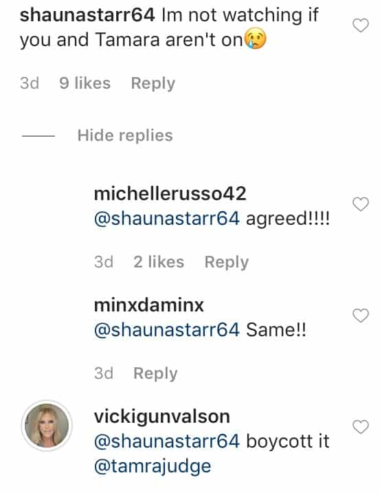 Vicki Gunvalson Requests Fan Boycott RHOC