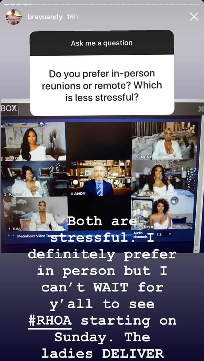 WWHL Andy Cohen Talks Virtual Reunions