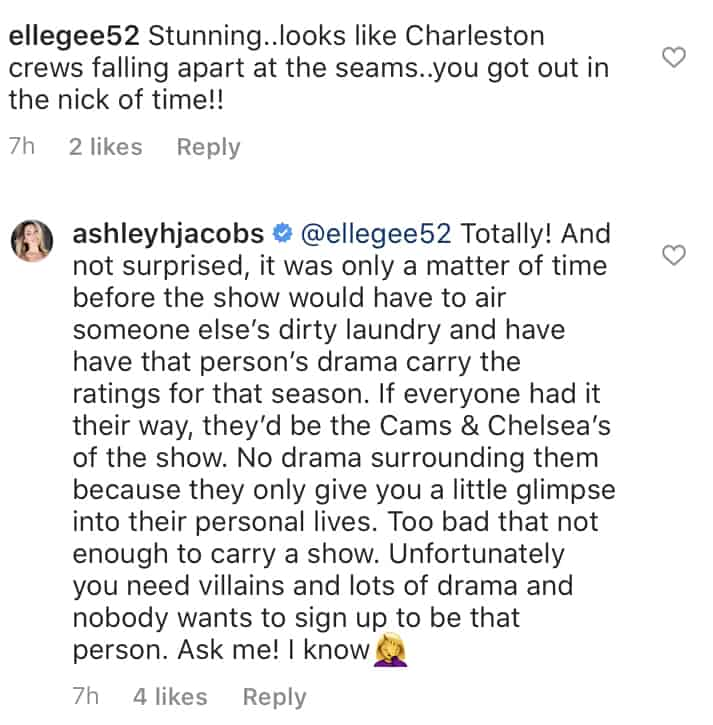 Ashley Jacobs Says Southern Charm Needs Villains to Carry Show