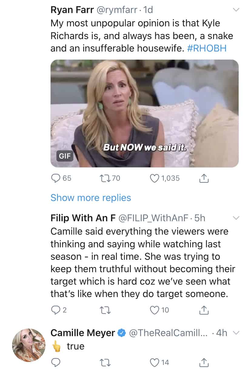 Camille Grammer Says She Tried to Make RHOBH Be Honest During Season Nine