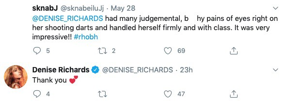 Denise Richards Reacts After Being Labeled Classy for RHOBH Behavior