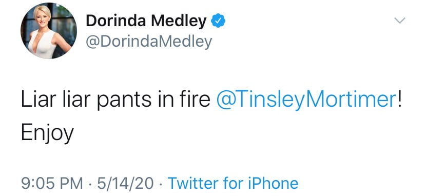 RHONY Dorinda Medley Suggests Tinsley Mortimer is a Liar