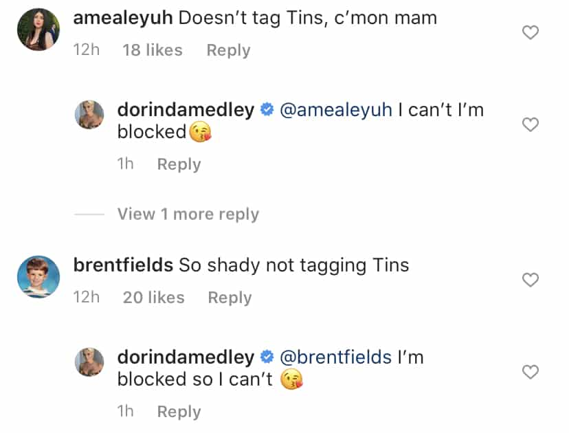 RHONY Dorinda Medley is Blocked by Tinsley Mortimer on Instagram