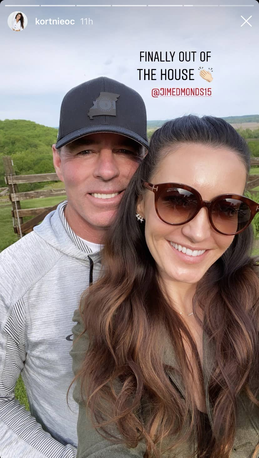 RHOC Jim Edmonds and Kortnie O'Connor Pose for a Selfie