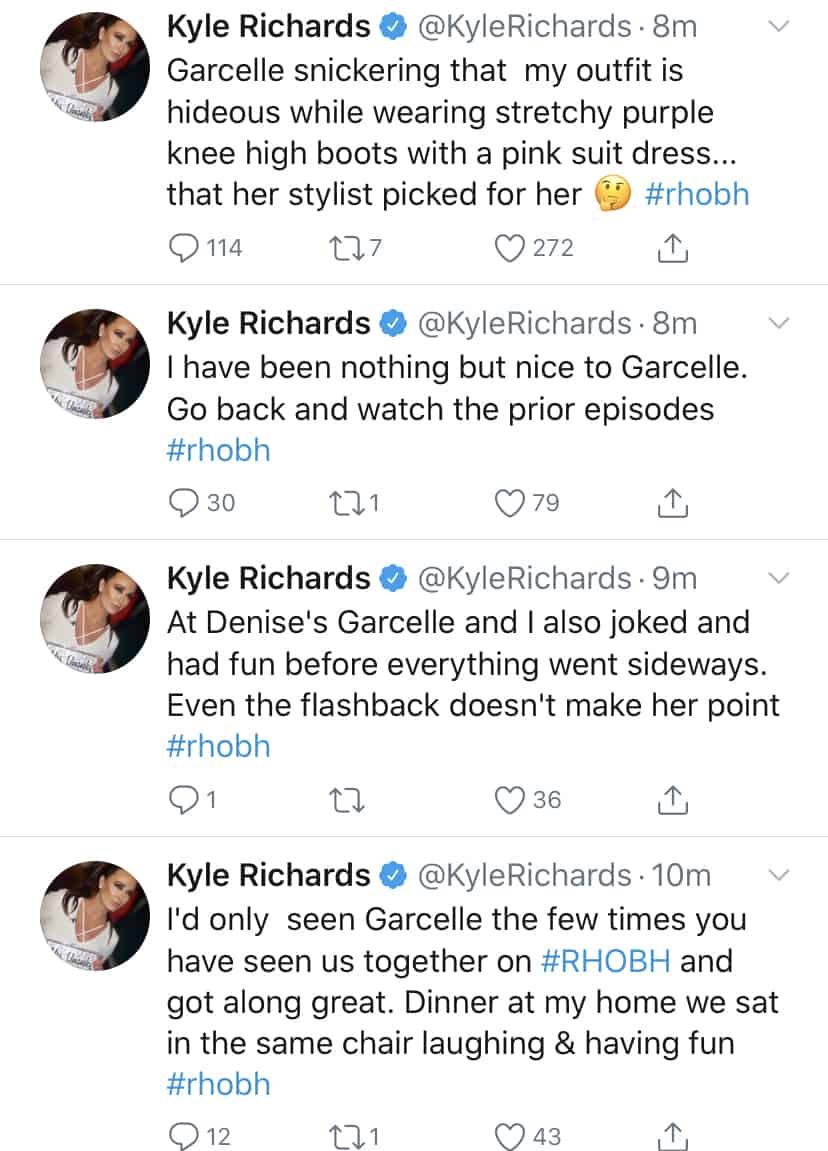 RHOBH Kyle Richards Makes Fun of Garcelle Beauvais' Style and Claims They Got Along at First