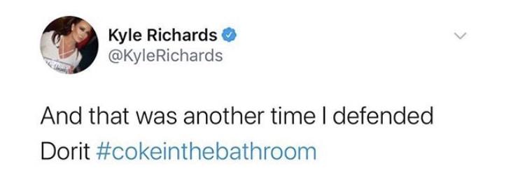 RHOBH Kyle Richards Recalls Defending Dorit Kemsley Against Coke in Bathroom Rumor