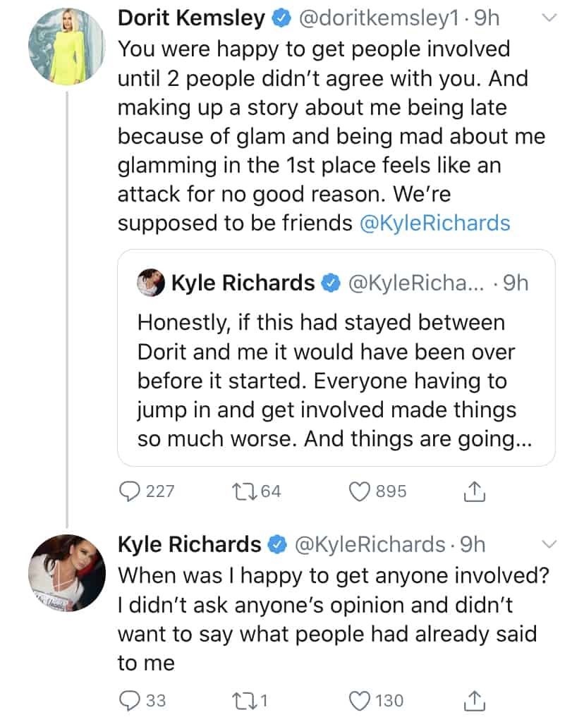 RHOBH Kyle Richards Responds to Dorit Kemsley's Claims of Lying About Teddi's Event