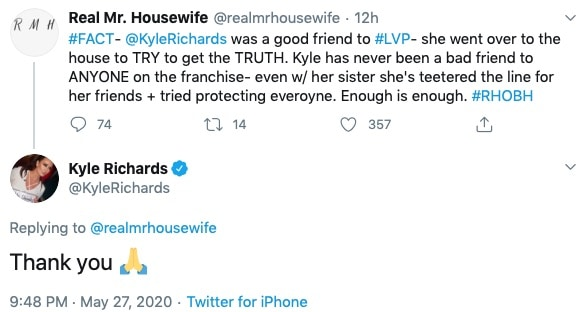 RHOBH Kyle Richards Responds to Fan Who Says She Was a Good Friend to Lisa Vanderpump