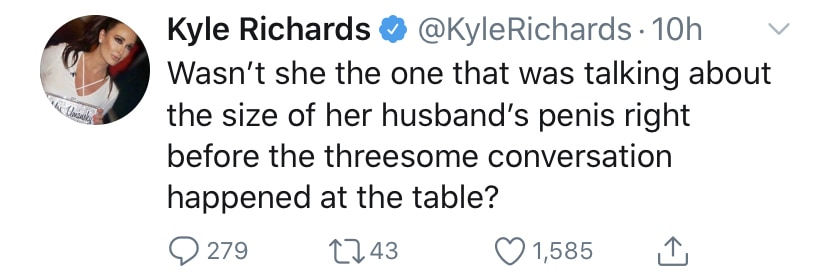 RHOBH Kyle Richards Suggests Denise is a Hypocrite