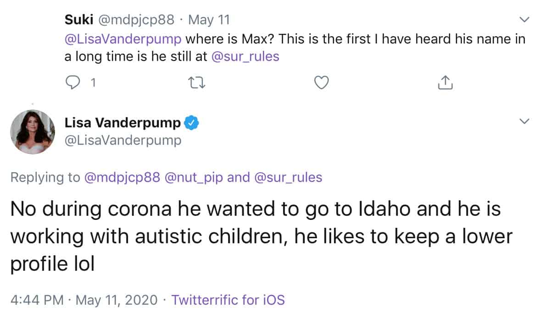 RHOBH Lisa Vanderpump Reveals If Son Max is Still Working at SUR Restaurant