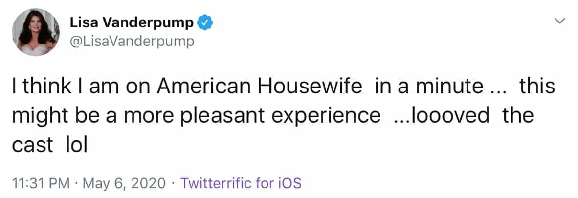 Lisa Vanderpump Shades RHOBH Cast After American Housewife Appearance