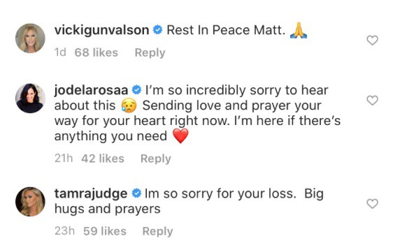 RHOC Cast Reacts to Matt Keough Death