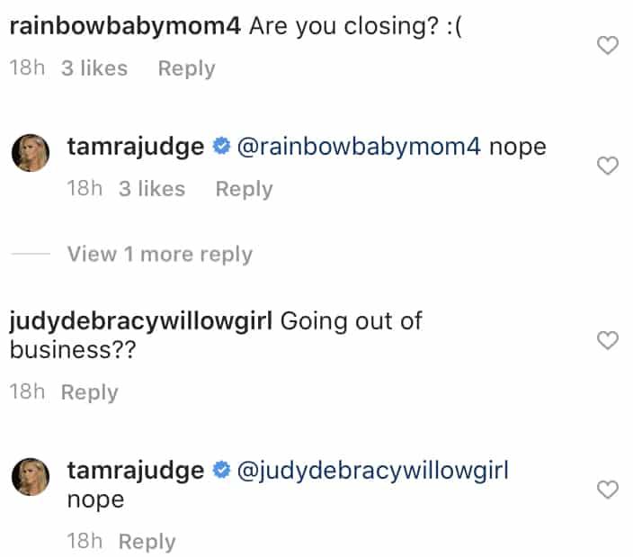 RHOC Tamra Judge Denies CUT Fitness is Closing