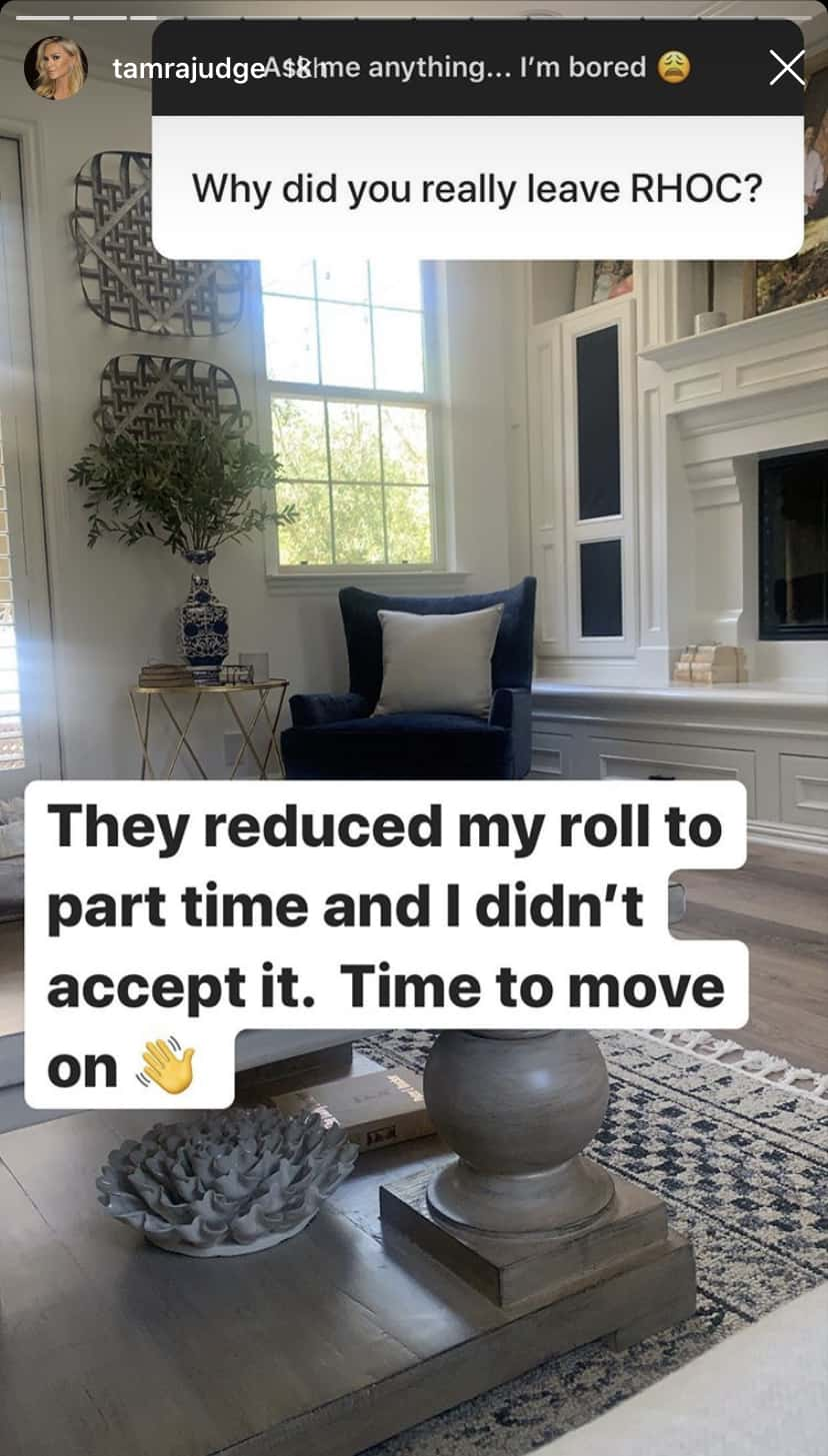 Tamra Judge Reveals Why She Really Left RHOC